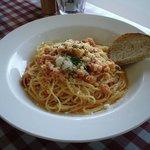 111952 - ズワイガニのトマトクリームソーススパゲッティ