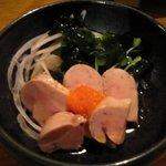 炭焼工房 飯味楽 - 日本酒と合いそうな「あんきも(\390)」。