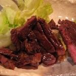 炭焼工房 飯味楽 - ソースが旨い「ガーリック牛ステーキ(\590)。
