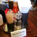CAFE RIGOLETTO - お会計はテーブルでお願い致します