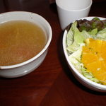 カフェ花時間 - 料理写真:サラダ&スープ