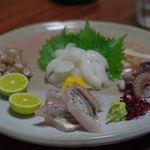 11100526 - 明石たこの三種盛り、太刀魚