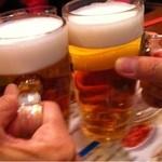 魯園菜館 - 生ビール490円