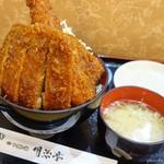 明治亭 - 料理写真:2019年4月 エビとロースソースかつ丼【税込1771円】