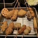 魚と串揚げ 串かっちゃん - 串揚げ盛り合わせ12種