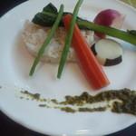 ブラッセリー マセナ - 胚芽米と茹で野菜