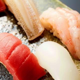 《寿司のみ》のコースはじめました。