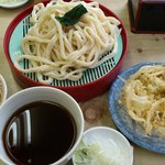 ふたばや - うどん2、肉、天ぷら