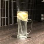 炭火焼肉 Tomo's ホルモン - 氷結生レモンサワー