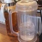 麺屋 半蔵 - 水かジャスミン茶か選べます