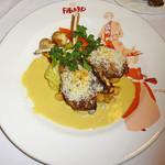 カフェレストラン フィガロ - 仔羊の骨付きロースト