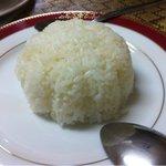 シーザー - グリーンカレーのライスです。タイ米ではありませんでした。