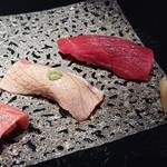 111040544 - 和歌山 本鮪 大トロと大トロ炙りと赤身。