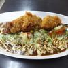 カレーや うえの - 料理写真:チキンカツと野菜のカレーあぶりチーズのせ…950円