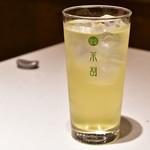 茶割 目黒 - 茎茶×ジン@450円