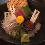 純米酒と藁焼 神楽饗 - お通しでこちら