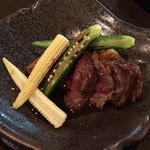 純米酒と藁焼 神楽饗 - ステーキ