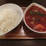 スープカレー屋 鴻 - 赤野菜カレー800円