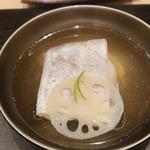 Ginzayoshizawa - 太刀魚と新蓮根と翡翠茄子