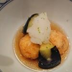 Ginzayoshizawa - 海老真薯と丸茄子