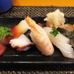 玄海鮨 - 梅 にぎり 部分です
