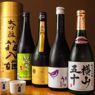 鹿児島が誇る「本格芋焼酎」をはじめ、厳選日本酒、カクテルまで