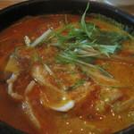 ポジャンマチャ - スンドゥブチゲは、胡麻の風味がすごい!