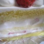 ル・ジャルダン・ブルー - 間のクリームにもイチゴ
