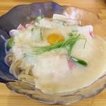 マゼニボジャンキー - 【(限定) やまといもと煮干の冷やし】¥1000