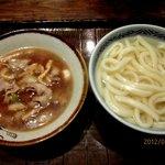 かまど - 肉つけ汁うどん(温)!(2013,01/07)