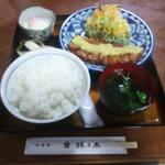 鉢の木 - 生姜焼き定食ご飯大盛が入場!