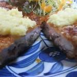 鉢の木 - 肉は厚いが超軟らかぁ❗衣と生姜が絶妙だす!