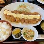 おおさかや - 料理写真:チキン南蛮(特大)ご飯ダブル(1450円)