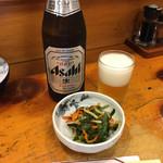 居酒屋若大将 - 中瓶ビール530円