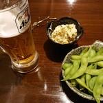 いたる屋 - ビール・お通し・枝豆