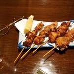 いたる屋 - 鶏ちゃん串揚げ 4種
