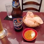 ベンガルタイガー - お通しとビール