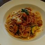 バルベッタ - 料理写真:牛すじ肉とズッキーニのトマトソース