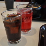 海鮮蔵 魚魚魚 - コーラと山ぶどうジュース