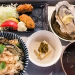 tobiume - 牡蠣飯DXセット(かき飯大盛)