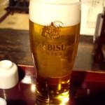 北海道料理 炉ばた - エビスビール