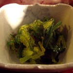 北海道料理 炉ばた - お通し 海草の酢の物