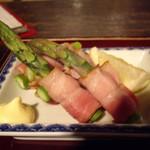 北海道料理 炉ばた - アスパラベーコン巻き