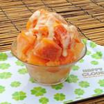 いちごカフェ - 柿の果実かき氷これはオイシイ数量限定