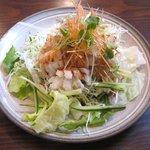嘉秋 - 料理写真:イカ天ぷら特製ニンニクソース(単品:900円)
