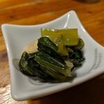 ぎやまん - 小松菜と薄揚げの煮浸し