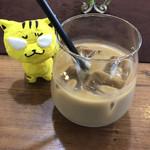 洋食キッチン cocoro - 食後のカフェオレ ※あらびきハンバーグ和牛100%1609 1,080円(税込)