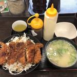 資さんうどん - ソースチキンカツ丼、貝汁変更@710