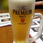香港麺 新記 - 生ビール520円