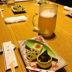 きばらし - 料理写真:皆様、まずはビールで乾杯☆彡(*^◯^*)富田林を散策した私には、美味しい美味しいビールでした!
